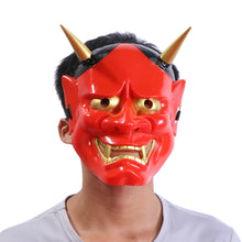 Halloween Cosplay Horror Mask PVC Japanese Hannya Noh Full Face Mask for Party Halloween Decoration Costume - ShopeeShipee