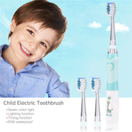 seago Children Cartoon Electric Tooth Ultrasonic Sonic Tooth Brush  LED Light Baby Teethbrush Waterproof Dental Brush Battery