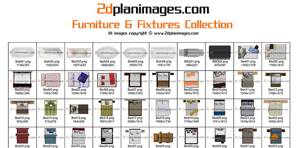 furniture collection, 2d plan images, 2d plan symbols,