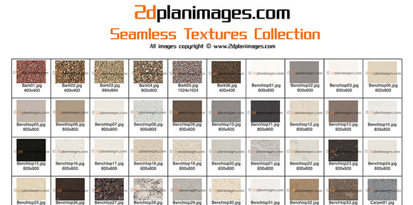 seamless textures collection, 2d plan images, 2d plan symbols,
