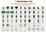 Furniture and fixtures collection 6, top down view, overhead, isolated background, 2d plan images, Baths, BBQ's, Beds, Bins, Chairs, Cooktops, Dining tables, Waste drains, Fridges, Lounges, Seating, Showers, Sinks, Basins, Pool tables, Spa's Toilets
