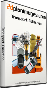 Transport Collection, top down vies, overhead view, colour floor plans, 2d plan images