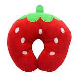 Cute Strawberry Travel Pillow