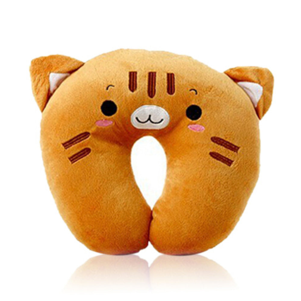 Cute Brown Cat Travel Pillow