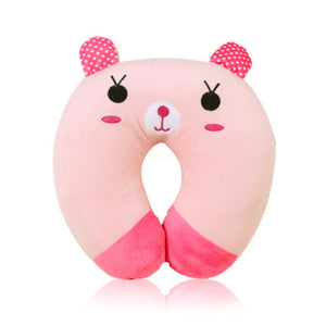 Cute Pink Rabbit Travel Pillow