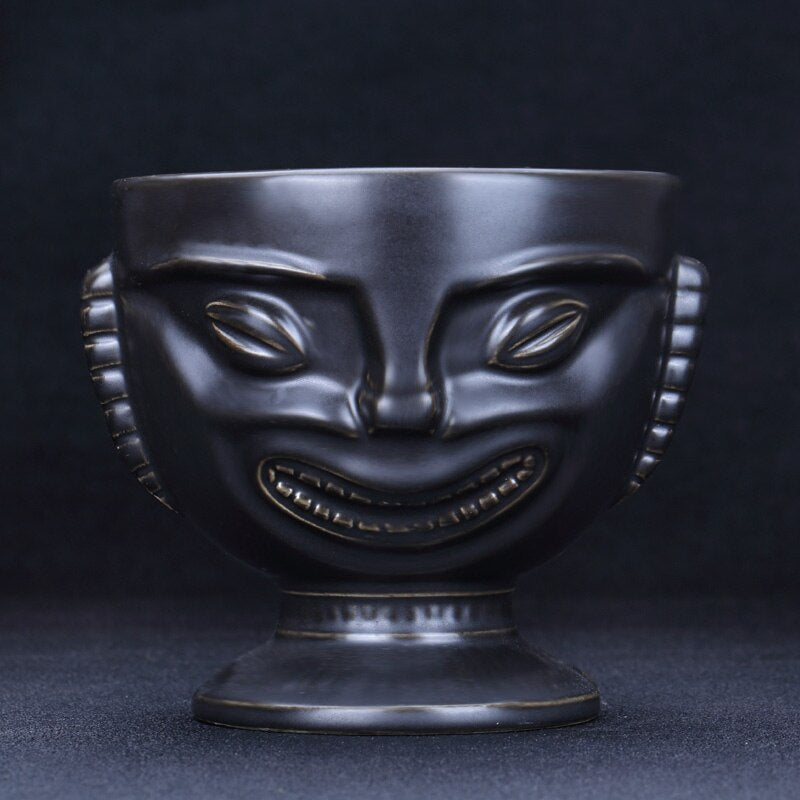 Hawaii Retro Tiki Totem Cocktail Ceramic Cup