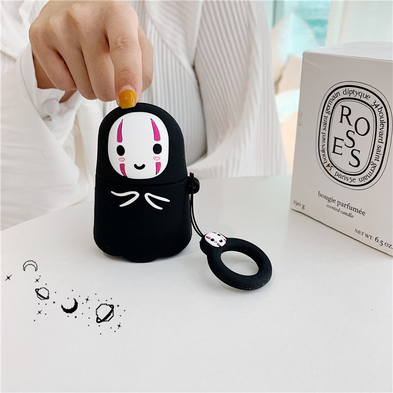 Spirited Away Kaonashi No-Face Yūrei Protective Silicone Cover for Apple Airpods 1 & 2