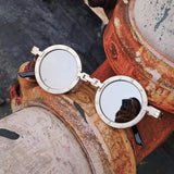 Classic Gothic Round Metal Frame Steampunk Sunglasses (Unisex, UV400 Shades)