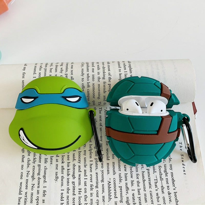 Cartoon Teenage Mutant Ninja Turtles Protective Silicone Case for Apple Airpods 1 & 2