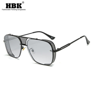 Vintage Square Hollow Shape Metal Frame Steampunk Sunglasses (Unisex, Gradient Shades UV400)