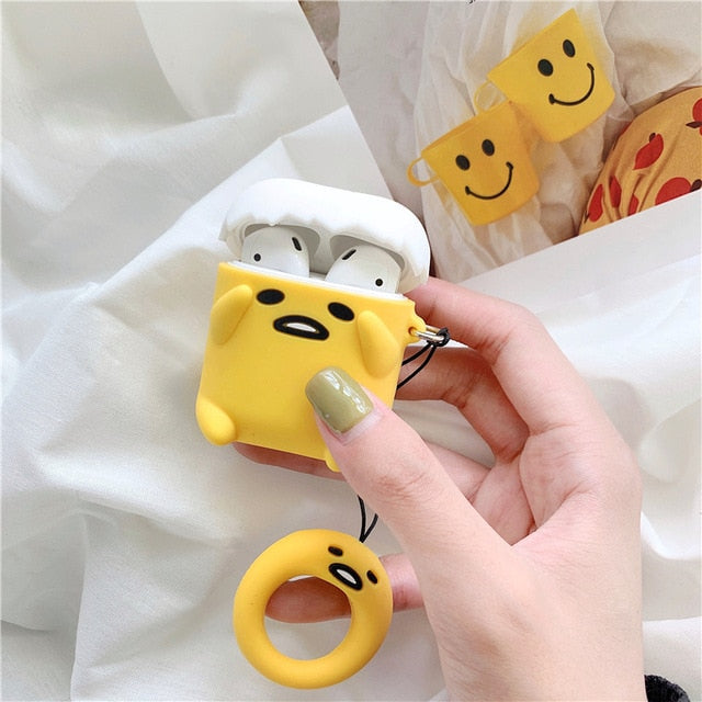 Gudetama Lazy egg Yolk Tamago Protective Silicone Cover for Apple Airpods 1 & 2