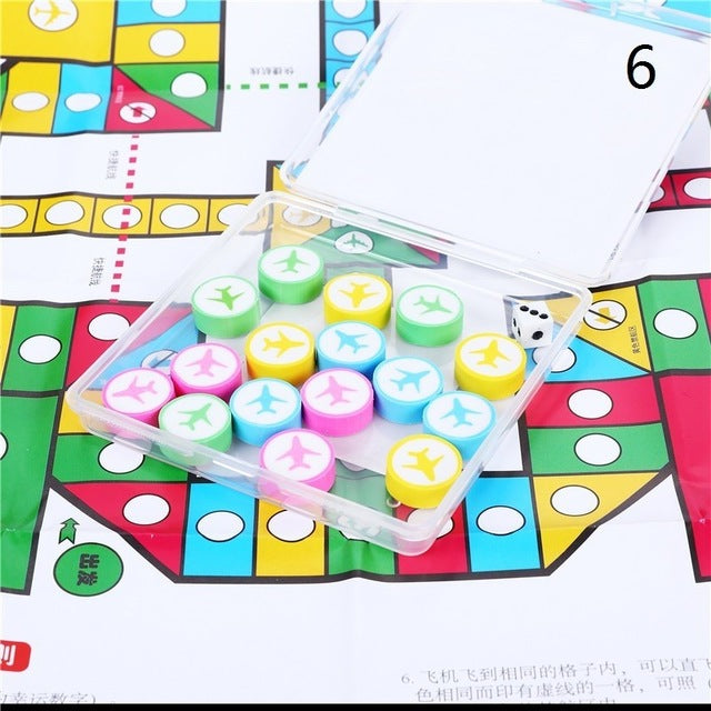 Novelty Board Game Rubber Eraser Set for Kids