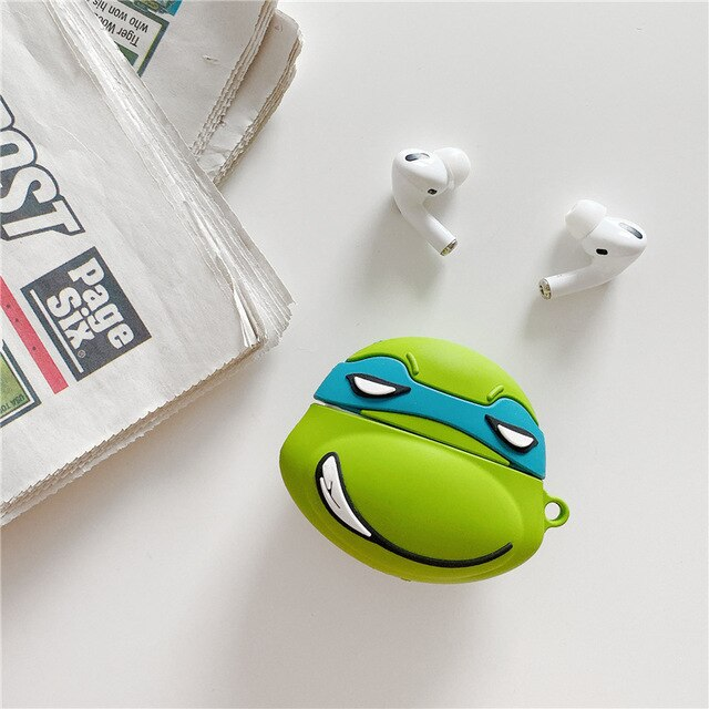 Cartoon Teenage Mutant Ninja Turtles Protective Silicone Case for Apple Airpods Pro