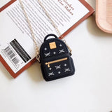 Luxury Fashion Designer Brand Backpack Protective Silicone Case for Apple Airpods 1 & 2