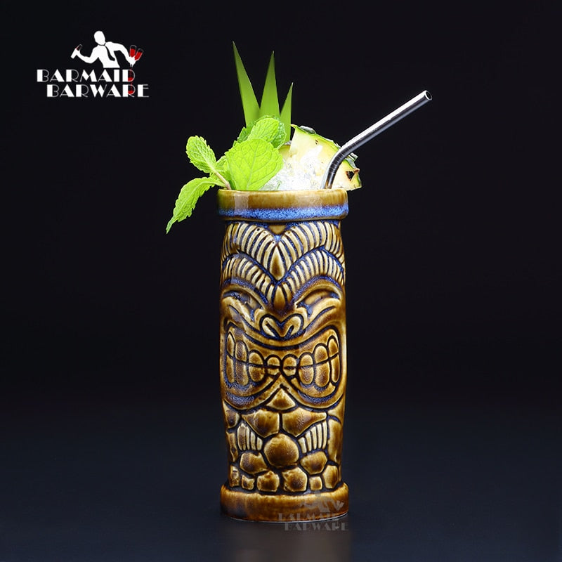 Hawaii Tiki Ceramic Mug - Style B (390ml)