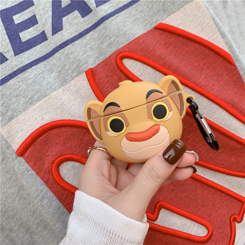 The Lion King Simba with Keychain Protective Silicone Case for Apple Airpods 1 & 2