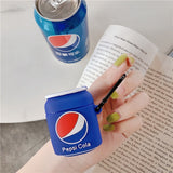 Blue Pepsi Cola Protective Silicone Case for Apple Airpods 1 & 2