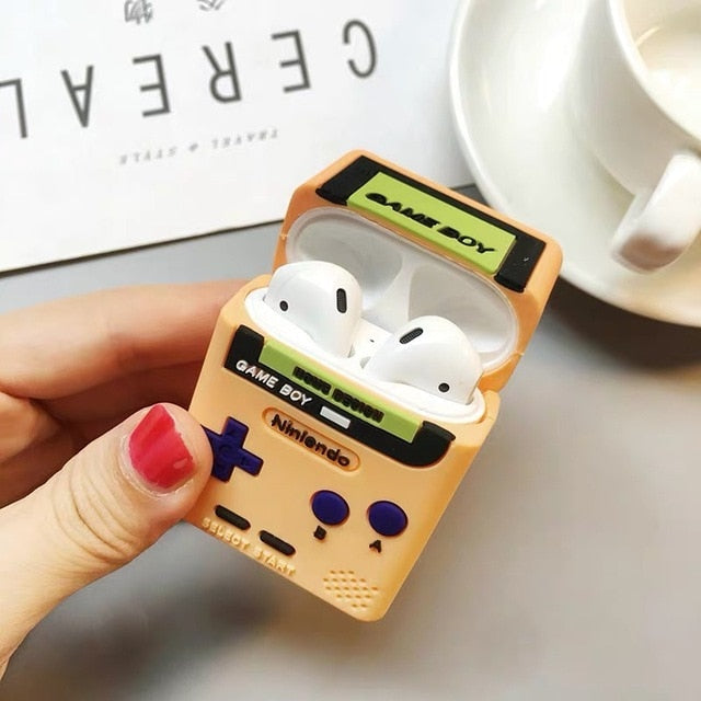 Nintendo Game Boy Pocket Protective Silicone Case for Apple Airpods 1 & 2