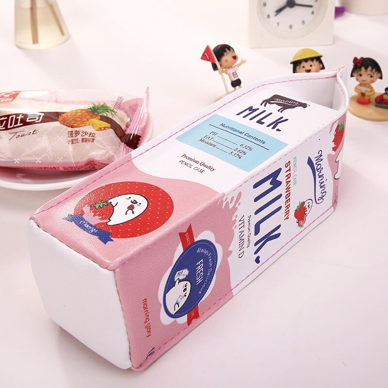 Cartoon Milk Carton Pencil Case