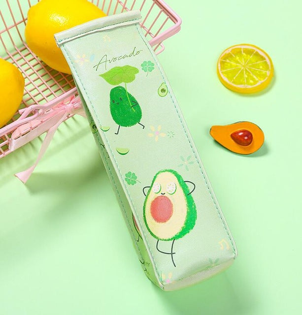 Avocado Cartoon Pencil Case