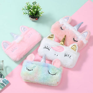 Rainbow Unicorn Plush Pencil Case (1 Pc)