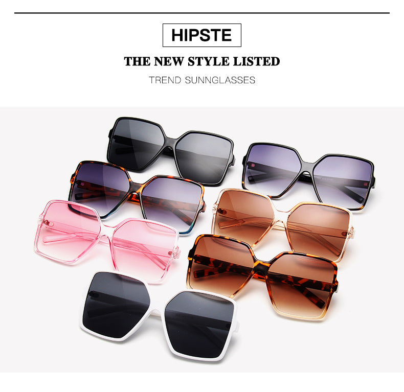 Trendy Oversized Square Sunglasses for Women (Celebrity-style)