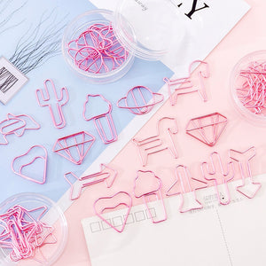 Pink Metal Bookmark Memo Paper Clips (8pcs/box)