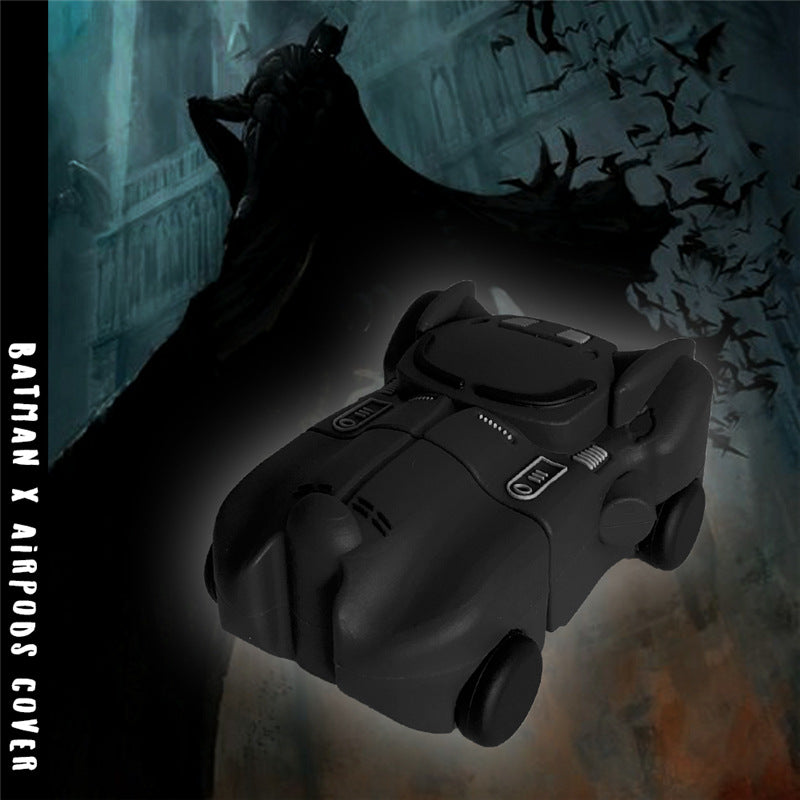 Batman Batmobile Silicone Protective Case with Keychain for Apple Airpods & Airpods Pro