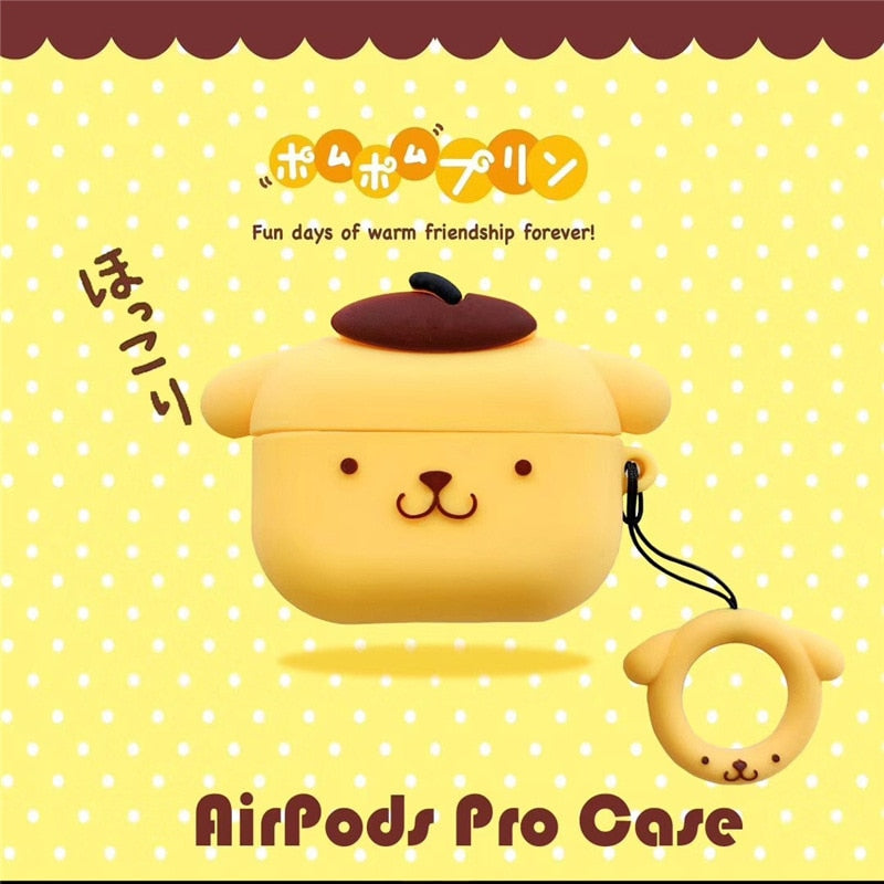 Pudding Dog Protective Silicone Case for Apple Airpods & Airpods Pro