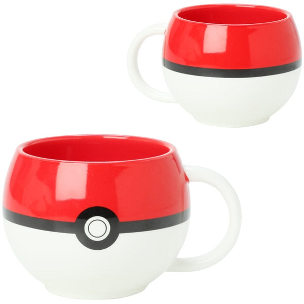 Nintendo Pokemon Pokeball Mug Handgrip Ceramic Coffee Mug Cup