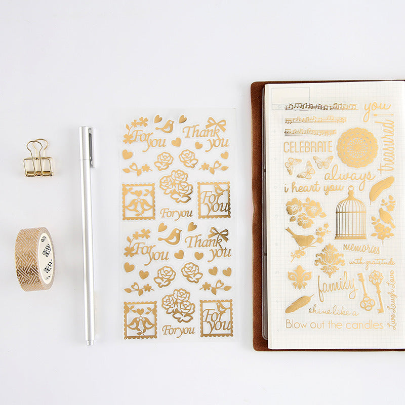 Gold Twinkle Stickers for Scrapbook