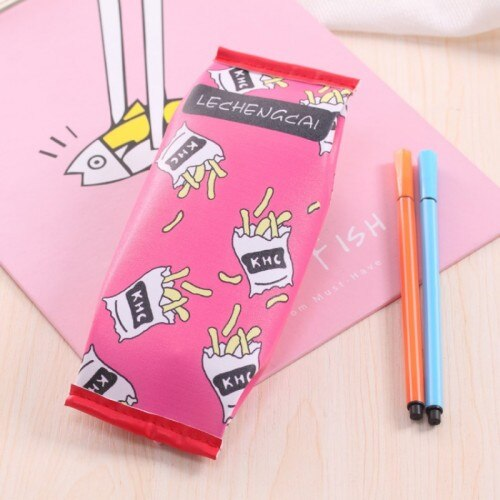 Snack-styled pencil case