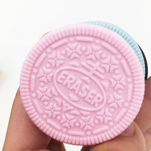 Oreo-shaped Sandwiched Cookie Rubber Eraser (1 Pc)