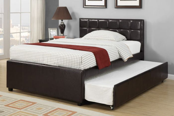 Espresso Platform Twin Bed with Trundle - F9215T