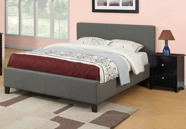 Grey Queen Platform Bed |Sale| - F9226