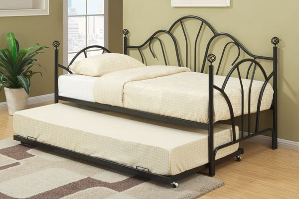 Poundex F9237 Black Metal Frame Day Bed - F9237