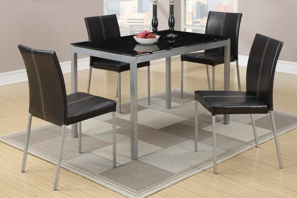 5 Piece Metal Glass Dining Set F2363
