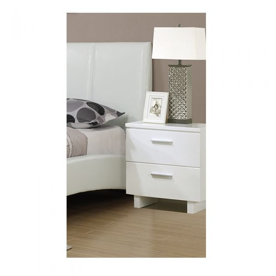 White 2 Drawer Night Stand - F4786