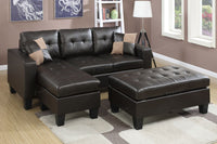 Leather Reversible Sectional Sofa Set F6927