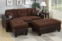 Microfiber Sectional Sofa Set - F6928