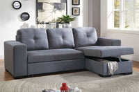 Polyfiber Convertible Sectional Sofa Bed - F6910