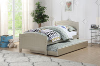 Silver Wood Kids Twin Bed with Trundle - F9276