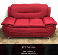 Sofa Love Seat in Leatherette and in Lenin - 270119