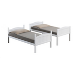 TWIN TWIN WHITE BUNK BED LITTLE TOWN -405053WH