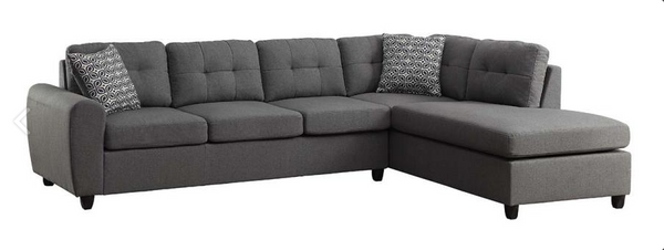 SUMMER SALE - LARGE GREY SECTIONAL IN LINEN FABRIC- C500413