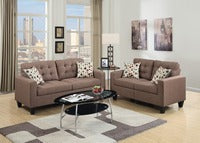 SOFA LOVE SEAT SET  IN LIGHT COFFEE COLOR - F6904