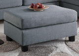 Grey Fabric Reversible Sectional Sofa Set - F7606