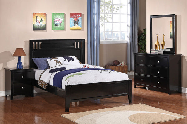 Black full size bed   - F9046