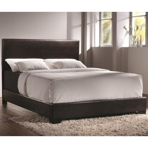 SUMMER SALE _ BROWN UPHOLTERED BED  -C300261