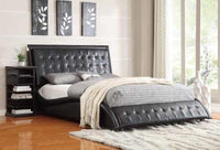 ClOSEOUT  Queen  BedFrame 40-70 % off  luxurious Black modern bed C300362